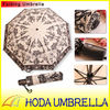 vintage style folding umbrella with auto open and close handle/angel picture umbrella