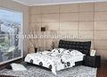 2013 speciale design unicoin pelle nera lettoin legno massello e telaioin vera pelle per essere finito per la casa camera da letto set