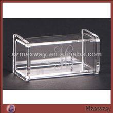 Clear Square Fine Designed Top Grade Acrylic Counter Top Hotel Napkin Holder Box Restaurant Napkin Holder Case