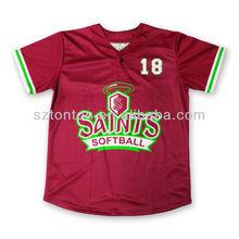 Sublimation Custom Embroidery Tackle Twill Baseball/Softball Jerseys