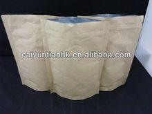 Coffee packaging kraft paper stand up zipper pouch doypack/kraft paper stand up pouch with valve