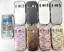 Chrome Leather Hard Case for Nokia C7