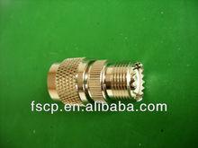 N Male to UHF Female electrical plug adapter