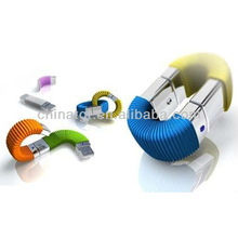 Customized bracelet circle with metal usb flash drive