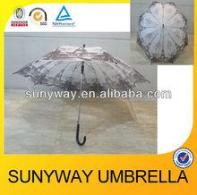 Automatic Paris city printing straight umbrella