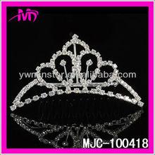 2013mini shining bridal princess rhinestone tiaras with comb