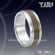 handmade koa legno anello di tungsteno claddagh ring tungsteno palestra