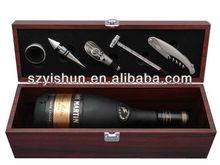 Custom best wooden wine box wooden box wine opener set