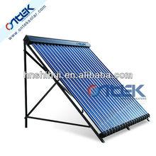 solar heating system in split pressurized, sun collector, vacuum solar collector