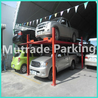 four post types construction vehicles car parking system