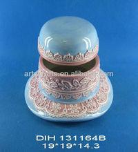 Valentine's Day decorative ceramic candy jar