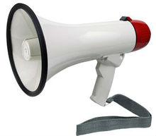 Ut-20 20 watt, mégaphone avec batterie 12v haut parleur extérieur