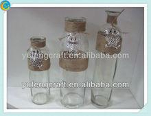 he rope winding Wishing bottles ,hollow glass spheres,vintage glass jar