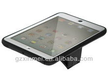 PC+TPU shock proof cover case for ipad mini with stand