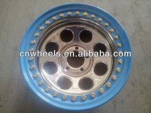 chrome car 4x4 wheel with beadlck ring