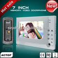o mais novo 7 polegadas memória foto video porteiro a cores