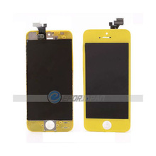 LCD/Touch Screen for iPhone 5, Fresh LCD Assembly with Touch Screen and Digitizer Frame Bezel for iPhone 5(Yellow)