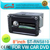 LSQ Star dvd car audio navigation system for VW golf 6 car dvd player with gps navi radio rds bluetooth IPAS,OPS,AC display...