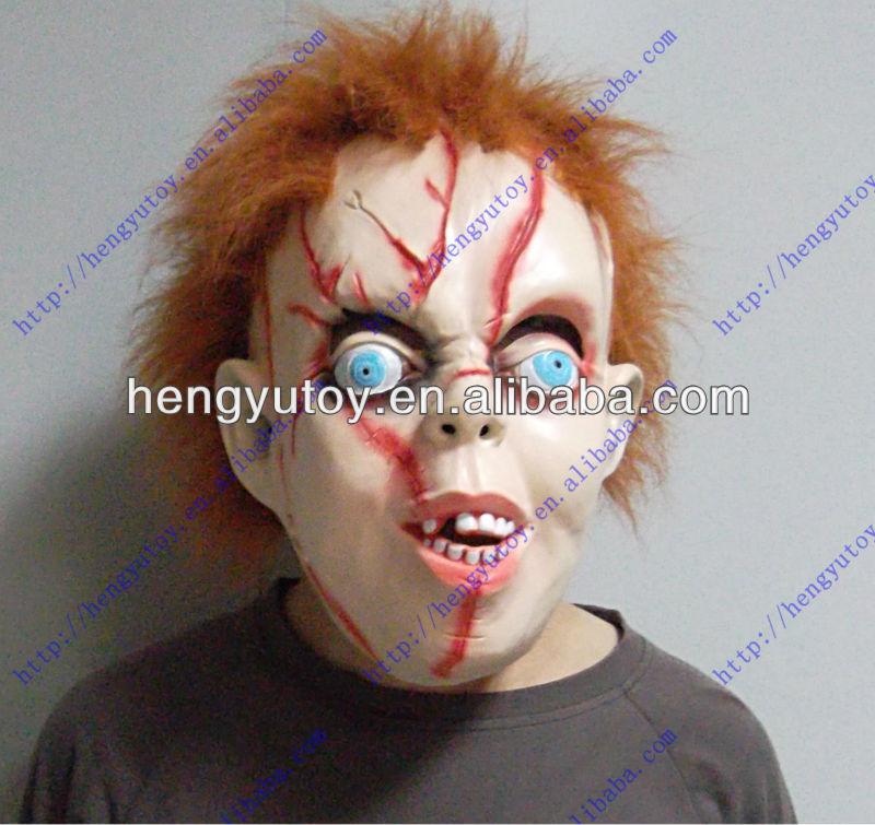 Chucky Halloween childs play Latex Mask, Fancy Dress scary good guy doll