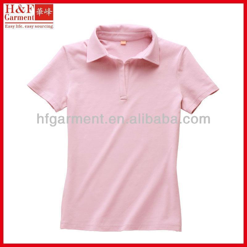 Polo v neck t shirt womens