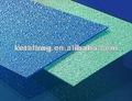 con textura de policarbonato hojas