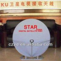 satellite antenna KU band 75* 80 cm triangle horizontal support offset satellite antenna