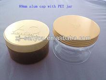89mm aluminum+PP insert screw cap for cosmetic jar/bottle