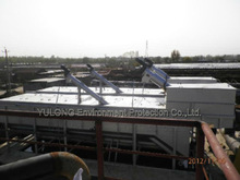 Integrated equipment waste water with grit oil treatment