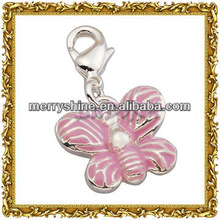 2013 Fashion Silver Butterfly Charms And Pendants-T342