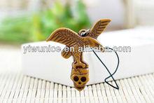 Acrylic eagle skeleton shape keychain creative fashion pendant cell accessory