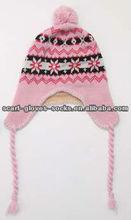 Jacquard Pattern Earflap Winter Hat
