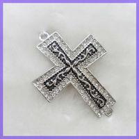 Popular Alloy Cross Side Enamel Charms Jewelry Connector #19002