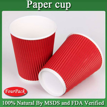 Good quality red commercial coffee cups for ripple paper cups