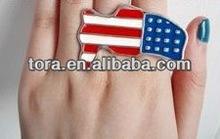 double finger USA ring