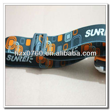 Woven elastic bands with metal ends for headlamp