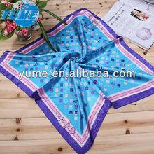 Fashion Square Dots Printing Women Neck Scarves/ Cheap Bulk Chiffon Shot Neck Scarf