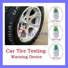 Tire Pressure Monitor Valve Stem Cap Sensor Indicator 3 Color Eye Alert 4pcs/set
