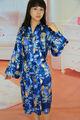 impressos cetim de seda pijamas kimono roupão de banho para as mulheres