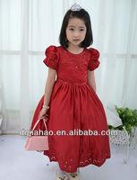 Classical red design new model 2013 wedding dress for girls