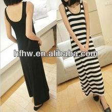 Han edition condole belt vest skirt Bohemian stripe