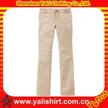 Girls Stretch Skinny Khaki Uniform Pants