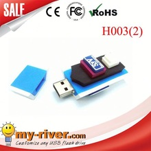 Customized PVC airplane usb for promotional 2.0 flash drive