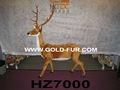 Venado artificial, gran tamaño de los ciervos, decoración ciervos, los ciervos de navidad, amarillo de ciervo, embarcaciones de ciervos