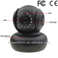indoor wifi wireless HD 720P pan tilt two way communication P2P ip mini camera with SD card