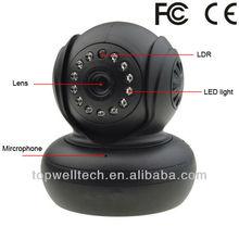 indoor wireless 720P pan tilt two way P2P ip mini camera with SD card