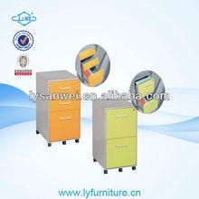 H016 3 drawers metal mobile pedestal