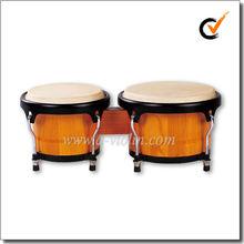 White Toon Wood Bongos/Latin Percussion Wooden Bongo Drum (BOBCS006)