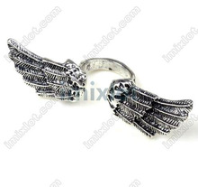 Fly back to ancient,new arrival the hot sell jewelry rings,ancient silver plated opening wings rings,100pcs/lot[CZA53-2*100]