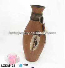 Decorative Native Indian wood Jar LZDM122