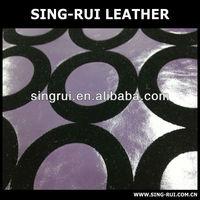 pvc ynthetic soft flock sofa leather,